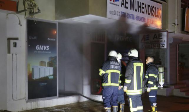 Adana'da bir iş yerinde çıkan yangın hasara yol açtı