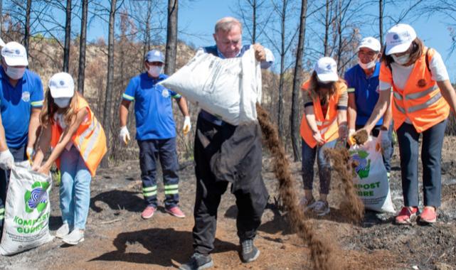 Yanan tarlalar kompostla can buluyor